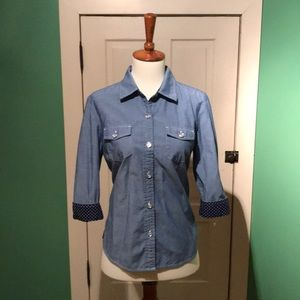 Karen Scott Chambray Button Down